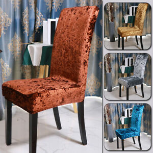Stretch Dining Chair Covers Chair Protector Soft Velvet Slipcovers Home Decor