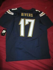 Philip Rivers Los Angeles Chargers Nike On Field Dark Blue Authentic Jersey