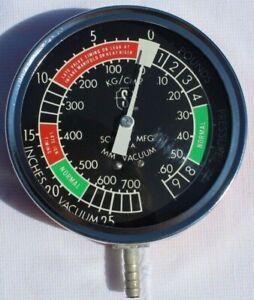 NOS Vintage Sonco Fuel Pump Pressure Vacuum Engine Diagnostic Gauge Chevy Ford