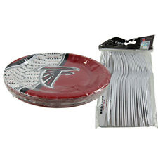 New NFL Atlanta Falcons 40pc Disposable Plates & Forks Party-Ware Supplies