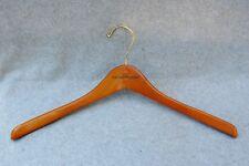 "Polo Ralph Lauren Clothes Hanger Wood Gold Tone Metal Hook 17"" Coat Jacket Shirt"