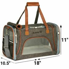 Mr. Peanut's Airline Approved Soft Sided Pet Carrier, Low Profile Tote