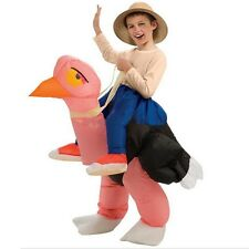 Kids Children Ostrich Inflatable Costume Holiday Decorations Funny Carnival