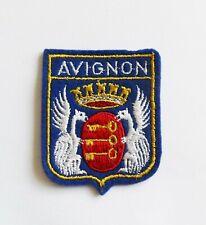 BLASON Brodé Ecusson ville Avignon - hauteur 6,5 cm
