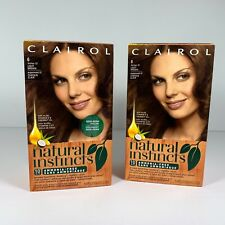 2 x Clairol Natural Instincts 6 Former 13 Suede Light Brown Hair Color New