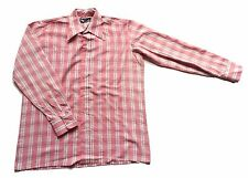 Men's Vintage 70's Check Shirt Retro Mod Large 44 Chest