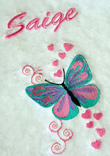 personalised bath towel and washer gift set BEAUTIFUL BUTTERFLY- add a FREE NAME