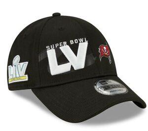 Official NFL Super Bowl 55 LV Tampa Bay Buccaneers New Era 9FORTY Adjustable Hat