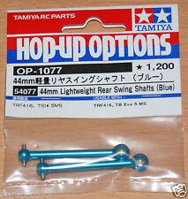 Tamiya 54077 44mm Lightweight Rear Swing Shafts (Blue) (TRF418/TRF419/XV-01 Pro)