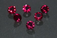 A Single Gorgeous 3.5mm IF Brilliant Cut Genuine Red Ruby
