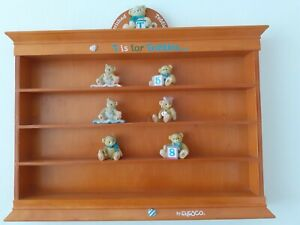 Cherished Teddies wooden display cabinet