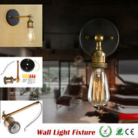E27 Retro Loft Coppor Edison Vintage Industrial Rustic Wall Sconce Light Fixture