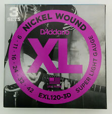 D'Addario Nickel Wound - 3 Set di  Corde Chitarra Elettrica EXL120-3D  009 - 042