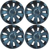 "Set of 4 Wheel Black Trims / Hub Caps 15"" Covers fits Ford Fiesta Focus KA"