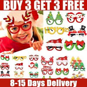 Adult Christmas Xmas Party Fun Novelty Santa Reindeer Glasses Fancy Dress TAB
