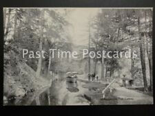 Vintage PC - The Canal, Llangollen - showing boat / Barge being towed by horse