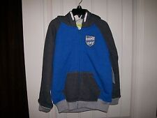 NEW! TOUGHSKINS BOYS ATHLETICS GAME DAY JACKET WITH HOOD SIZE 5/6 RETAIL $40
