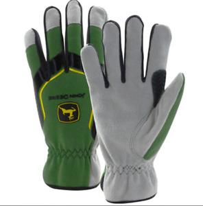 John Deere Men's Cowhide Glove with Spandex Back - XLARGE - LP67361