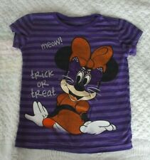 New listing Disney Store 5 6 Girls shirt Halloween Minnie Mouse cat Euc trick treat purple