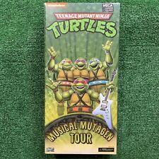 SDCC 2020 NECA TMNT Musical Mutagen Tour 4 Pack NEW Ninja Turtles Action Figures