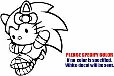 Vinyl Decal Sticker - Hello Kitty Sonic the Hedgehog Car Truck Bumper JDM Fun 9""