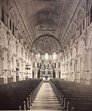 Interior (Cathedral) at Boston. Original Photogravure Print. 1889 - 1890