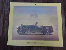 Vintage Aston Martin Modelo de Impresión de 1933 del coche perfecto para Pub Tienda Garaje