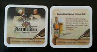 Bierdeckel Kloster Weizen hell der Karmeliten Brauerei in Straubing