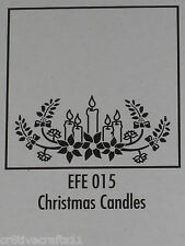 """Nellie Snellen Emboss Folders """"Christmas Candles"""" Efe015 Cards And Scrapbooking"""