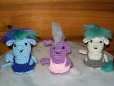 Adorable 4in crochet Baby Trolls set of 3 doll toy animal handmade #7