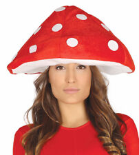 Mushroom Hat Red Fancy Dress Stag Gnome Elf Novelty Woodland Mario Toad Stool