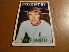 A & A.C. Chicle Fútbol Tarjeta 1972/73 Rojo Naranja posterior Wilf Smith Coventry City