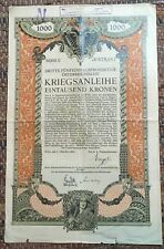 stock share bond Wien 1915. year Austria
