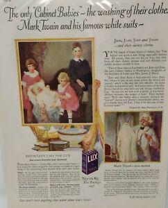 Vintage 1925 LUX Dish Washing Laundry Detergent Soap Art Décor 20's Print Ad