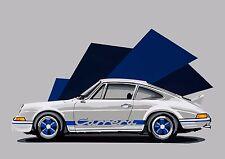 PORSCHE 911 CARRERA RS 2.7 Sports Car Pop Art Edizione Limitata Firmata Art Prints
