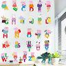 Cartoon Alphabets Kids Wall Stickers Removable Vinyl Decal Nursery Decor Mural