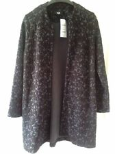Knee Length Viscose None Floral Coats & Jackets for Women
