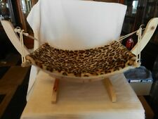 Natural Wooden Handmade Cat Bed Cat Hammock Cradle Mat Swing Puppy Bed