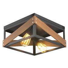Adjustable Ceiling Lamp Geometric Lights Rustic Flush Mount Hallway Living Room