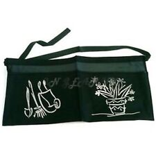 GREEN TWO POCKET GARDENERS GARDEN APRON GARDENING TIE UP BIB TOOL BELT GIFT NEW