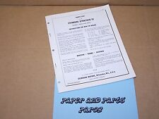 1958 Evinrude Outboard Factory Parts List Sportwin 10 Boat Motor
