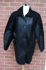 Jaqueline Ferrar Womens Black Leather Jacket Coat Size Small