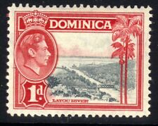 Dominica 1938 - 47 KGV1 1d Layou River MM SG 100 ( F1308 )