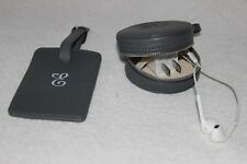 """Mark & Graham Grey Luggage Tag & Earbud/Charger Case NWOT Free Ship MSRP $70 """"E"""""""