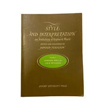 Style and Interpretation: an Anthology of Keyboard Music V. 5~Keyboard Duets