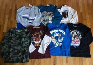 New LOT 7 pcs BOY 5T & 5 long sleeves graphic tee Paw Patrol camo Dinosaur