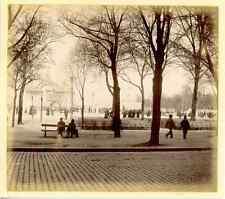 France, Bordeaux, Carrousel Carnot, Mai 1888  Vintage print. Aquitaine. Gironde