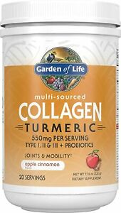 Garden of Life Multi-Sourced Collagen Turmeric - Apple 7.76 Ounce (Pack 1)
