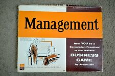 Vintage 1960 Management Bookcase Board Game With Box Avalon Hill