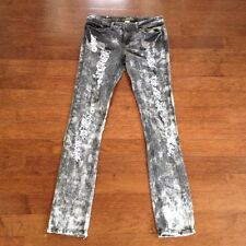 Women's RED RIVET Destroyed Grey Camo Jeans, Size 9, GREAT CONDITION!